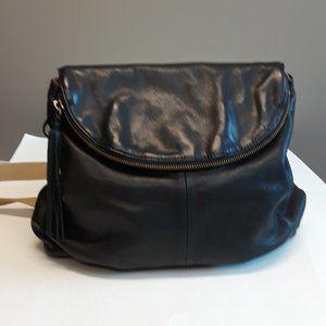 Margot Black Soft Leather Backpack